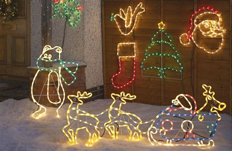 led polar with scarf rope silhouette departments diy at b q