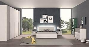 Camera Matrimoniale Moderna Con Letto Contenitore E Luci Led Modello Mila