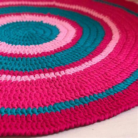 tapete croche fio de malha colorido elo7