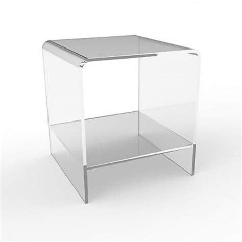 comodini in vetro da letto tavolini plexiglass