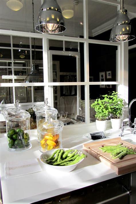 glass partition transitional kitchen deulonder