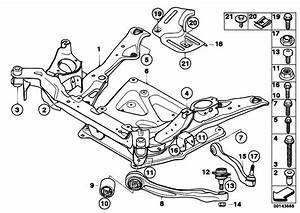 Original Parts For E60 530xi N52 Sedan    Front Axle   Frnt