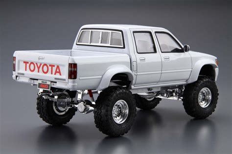 toyota 4wd models aoshima 1 24 the tuned car 5 model kit toyota hilux 4wd