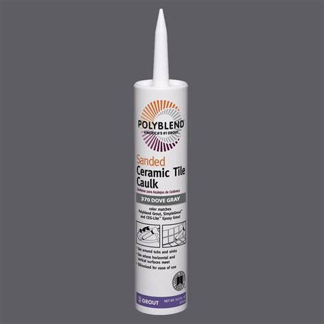 polyblend sanded ceramic tile caulk oyster gray custom building products polyblend 370 dove gray 10 5 oz