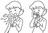 Cough Clipart Manners Coloring Coughing Clip Sneezing Mouth Sneeze Etiquette Cliparts Pages Sketch Template Measures Influenza Library Bad Drawing Throat sketch template