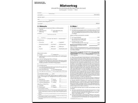 Mustermietvertrag 6seiti  Formulare Formulare