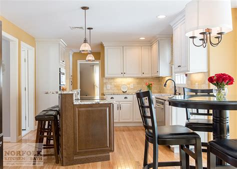 Cabinets To Go Manchester Nh by Bedford Nh Kitchen White Cabinets With Maple Island