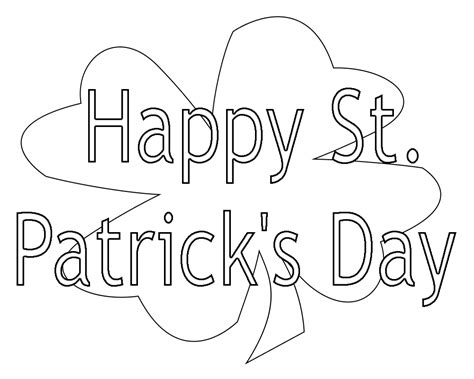 Top 14 St.patrick's Day Coloring Pages Free,printable