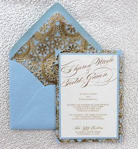 light blue and gold wedding invitation With wedding invitation templates light blue