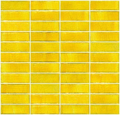 sunshine yellow transparent glass subway tile stacked