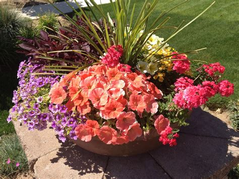 pictures of flowers in pots flower pots premier landscapes layton salt lake city utah