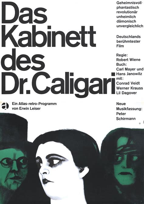 Cabinet Of Doctor Caligari Poster by Poster For The Cabinet Of Dr Caligari Das Kabinett Des