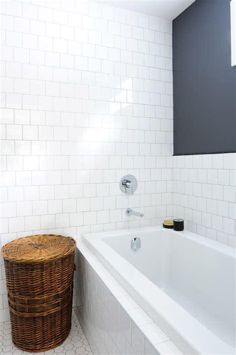tiled drop  tub transitional bathroom oliver