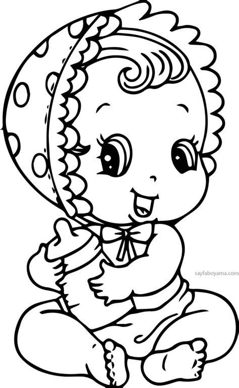 sevimli kiz bebek boyama sayfasi sayfa boyama