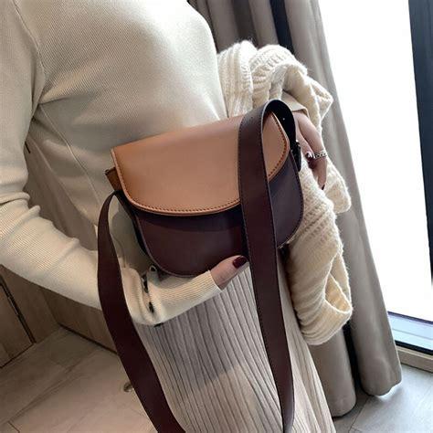 saddle bag bags crossbody purses shoulder flap patchwork long strap
