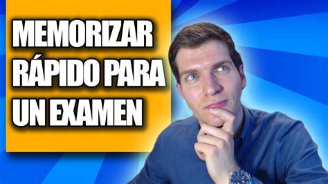 Cómo Memorizar Rápido Para Un Examen (3 Nuevos Trucos) Youtube