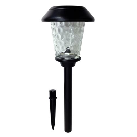 Led Len Solar by Hton Bay Solar Black Metal Outdoor Integrated Led