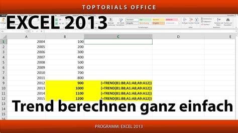A Berechnen by Trend Berechnen Trendberechnung Ganz Einfach Excel