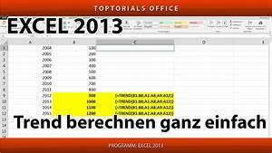 Excel Tabelle Summe Berechnen : trend berechnen trendberechnung ganz einfach excel toptorials ~ Themetempest.com Abrechnung