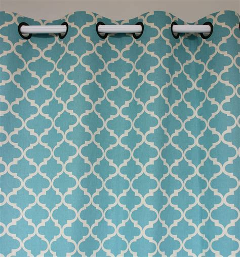 new arrival light blue geometry linen cotton window