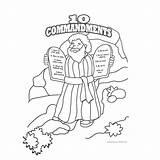Commandments Coloring Ten Pages Printable Moses Commandment Sheet Tablet Getcolorings Preschoolers Bible Colo Getdrawings Colorings sketch template