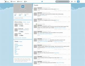 Twitter New Home GUI PSD template Download - Download PSD