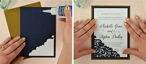 how to diy laser wedding invitations with slide in cards With wedding invitation slideshow maker