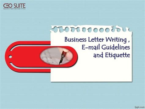 business letter writing  mail guidelines etiquette
