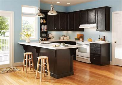 Espresso Clearfield Kitchen Woodmark Overlay Simply Partial