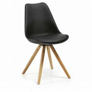 Chaise Plastique Noir : chaise ralf noire en bois plastique ~ Teatrodelosmanantiales.com Idées de Décoration