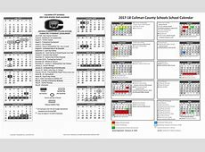 SCHOOL DAYS 20172018 Calendars for Cullman County, City