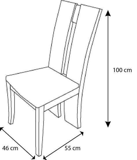 mesure d une chaise table à manger en verre 6 chaises design alys ebay