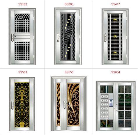 modern main door design stainless steel wrought iron door