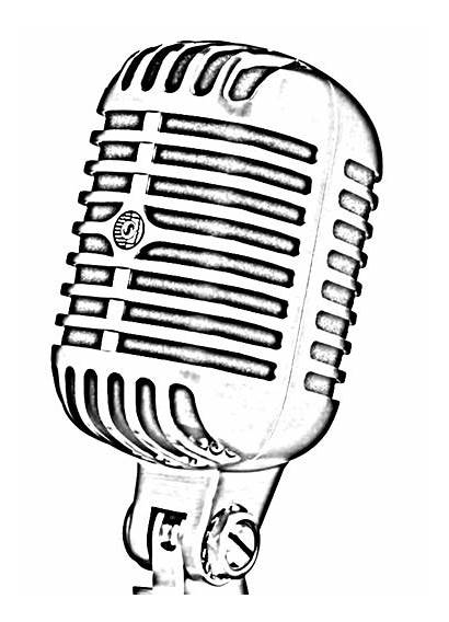 Microphone Drawing Outline Drawings Toxicology Aquatic Laboratory
