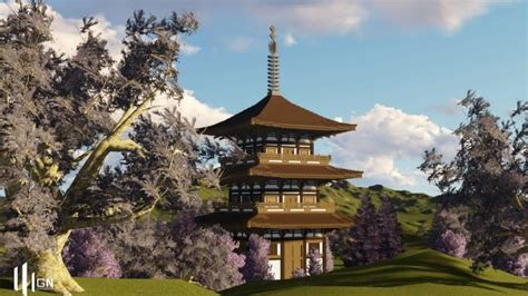 japanese  storied pagoda minecraft building
