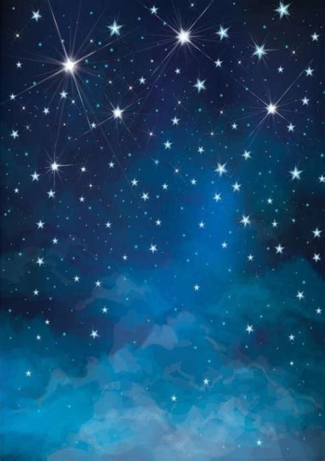 night blue sky  stars background  children