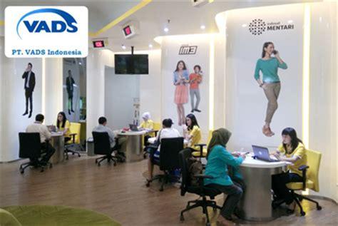 lowongan kerja customer service galeri indosat pt vads