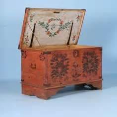 nebraska blue rosemaled trunk quot kiste quot 1800 s rosemaling dalmalning zhostovo more