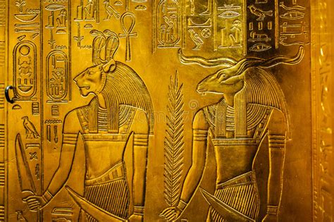 relief  egypt gods stock photo image  symbolism