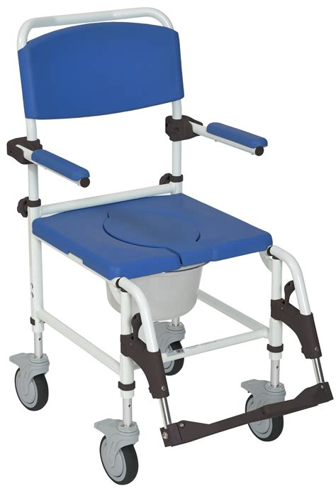 aluminum shower commode mobile chair drive