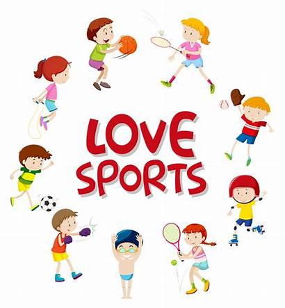 Athletes Character Sport Vector Clipart