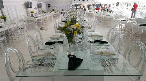 glass wedding tables white wooden tables wedding decor