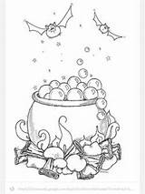Halloween Cauldron Coloring Witch Pages Embroidery Coloriage Template Clipart Moldes Fall Picasa Web Witches Drawing Automne Cards Stamps Colouring Decorations sketch template