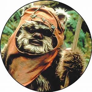 Star Wars Wicket Ewok Close Up Button Within Tab Window