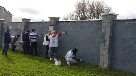bcc works  tidy towns  paint walls  sunshine house balbriggan community college