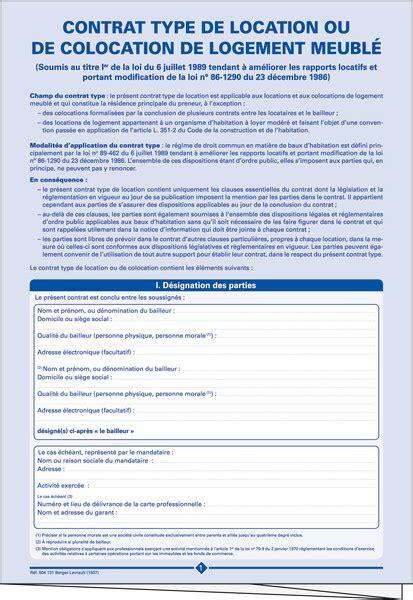 bail bureaux mod e contrat type de bail de location ou de colocation de