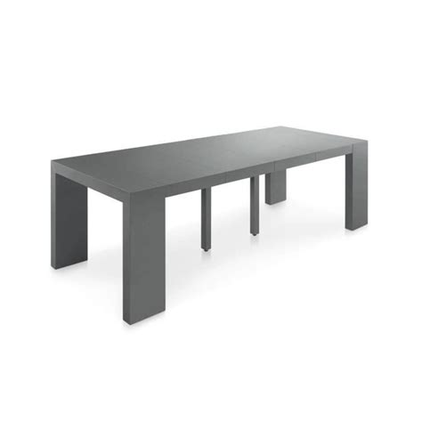 table console extensible pas cher 250 cm gris s achat vente console meuble pas cher couleur