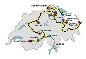 Like the tour de france and the dauphiné, the tour de suisse has several stages with significant mountain climbs. 2011 Tour de Suisse - Wikipedia