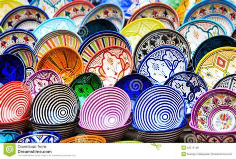 cuisine marocaine traditionnelle poterie en céramique traditionnelle au maroc photo stock image 52011106