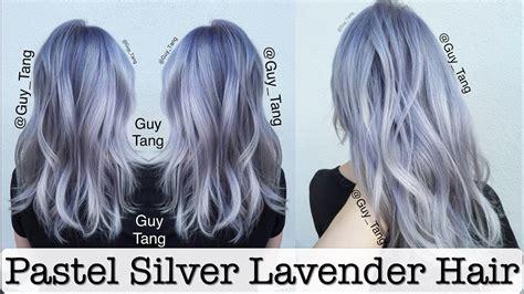 pastel silver lavender hair youtube